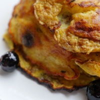 3 Ingredient Blueberry Pancakes